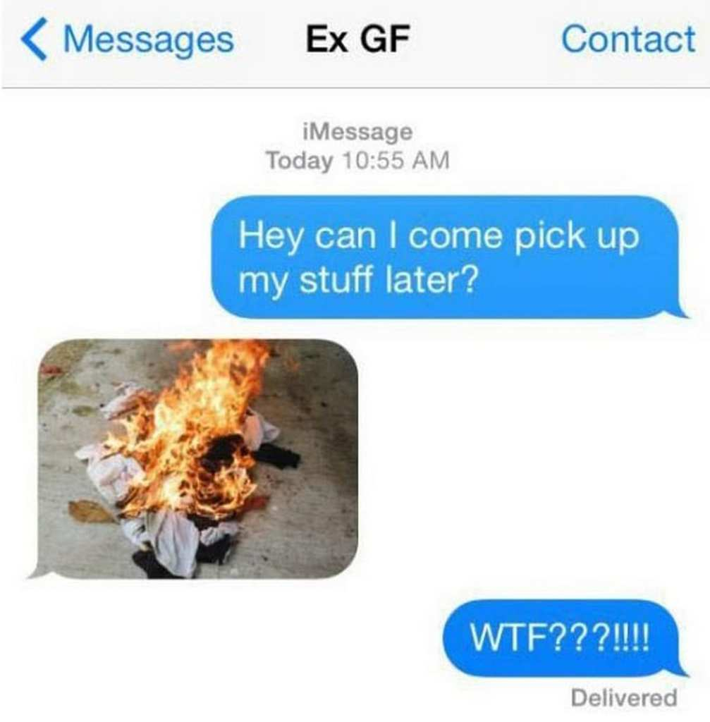 Exes who tried to make up over text, only to receive these snarky